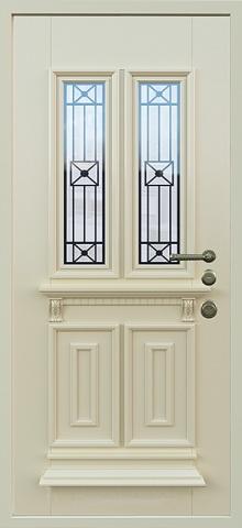 Дверь со стеклом и ковкой DR245