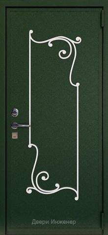 Дверь с ковкой DR260