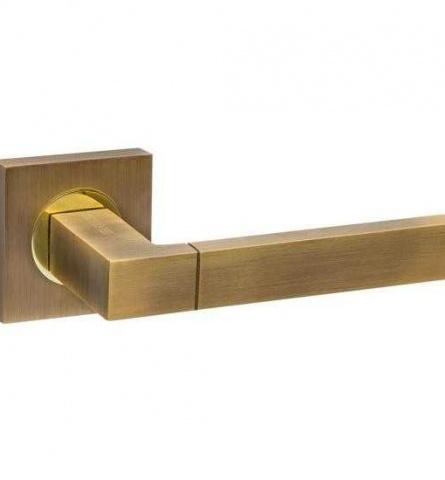 Ручка дверная Fuaro Ethno KM AB/GP-7 бронза/золото